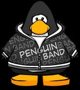 Black Penguin Band Hoodie PC