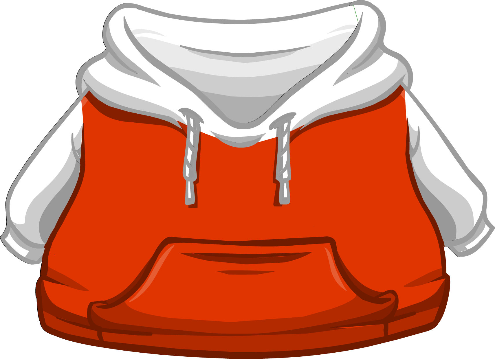 Cangurito Dos Tonos Blanco y Rojo