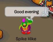 Spike Hike saludando