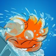 Orange Puffle Dose ALS Ice Bucket Challenge