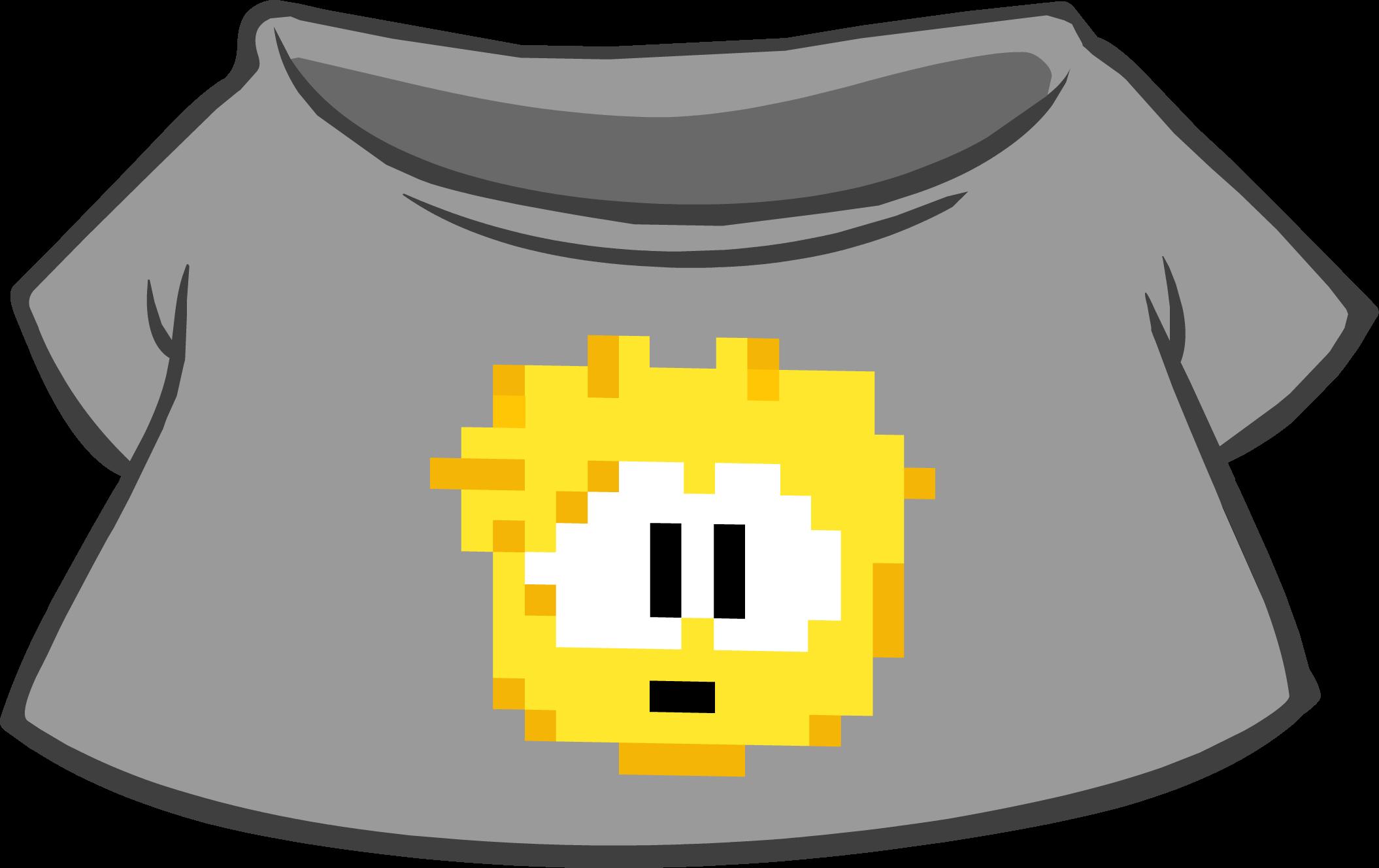 Camiseta de Puffle Pixelado Dorada