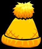 Gorrito Amarillo con Pompóm