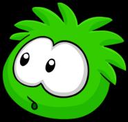 Green PuffleCurious