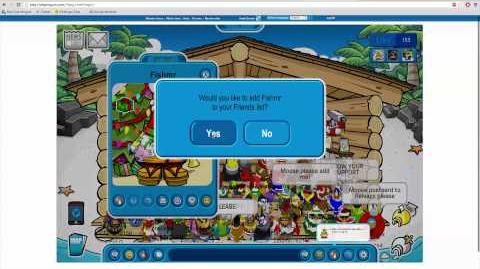 Duckiees's Businesmoose igloo party.
