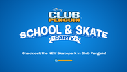 School & Skate Party logo screen