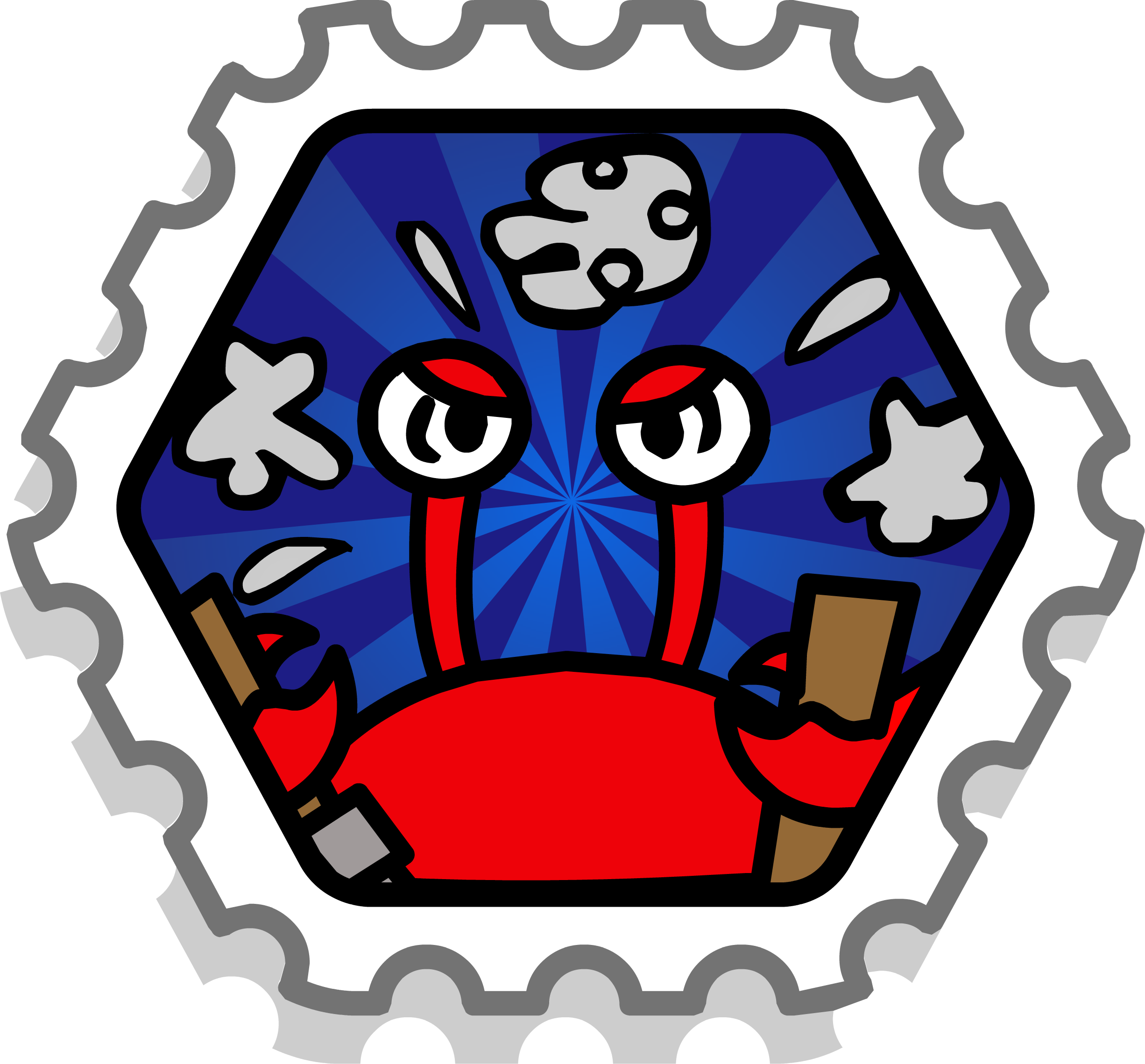 Crab Crash stamp