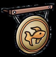 Ninja Hideout Gold Fish Gong