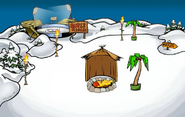 Winter Luau Snow Forts
