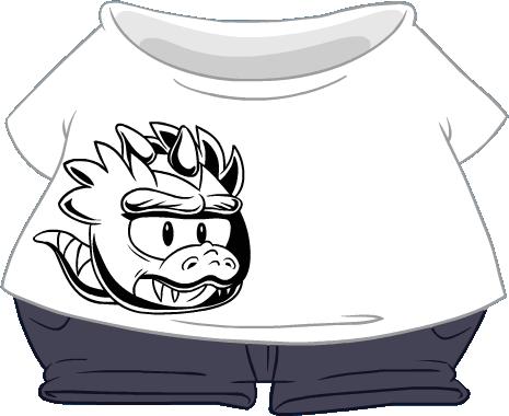 Camiseta de Puffle T-Rex