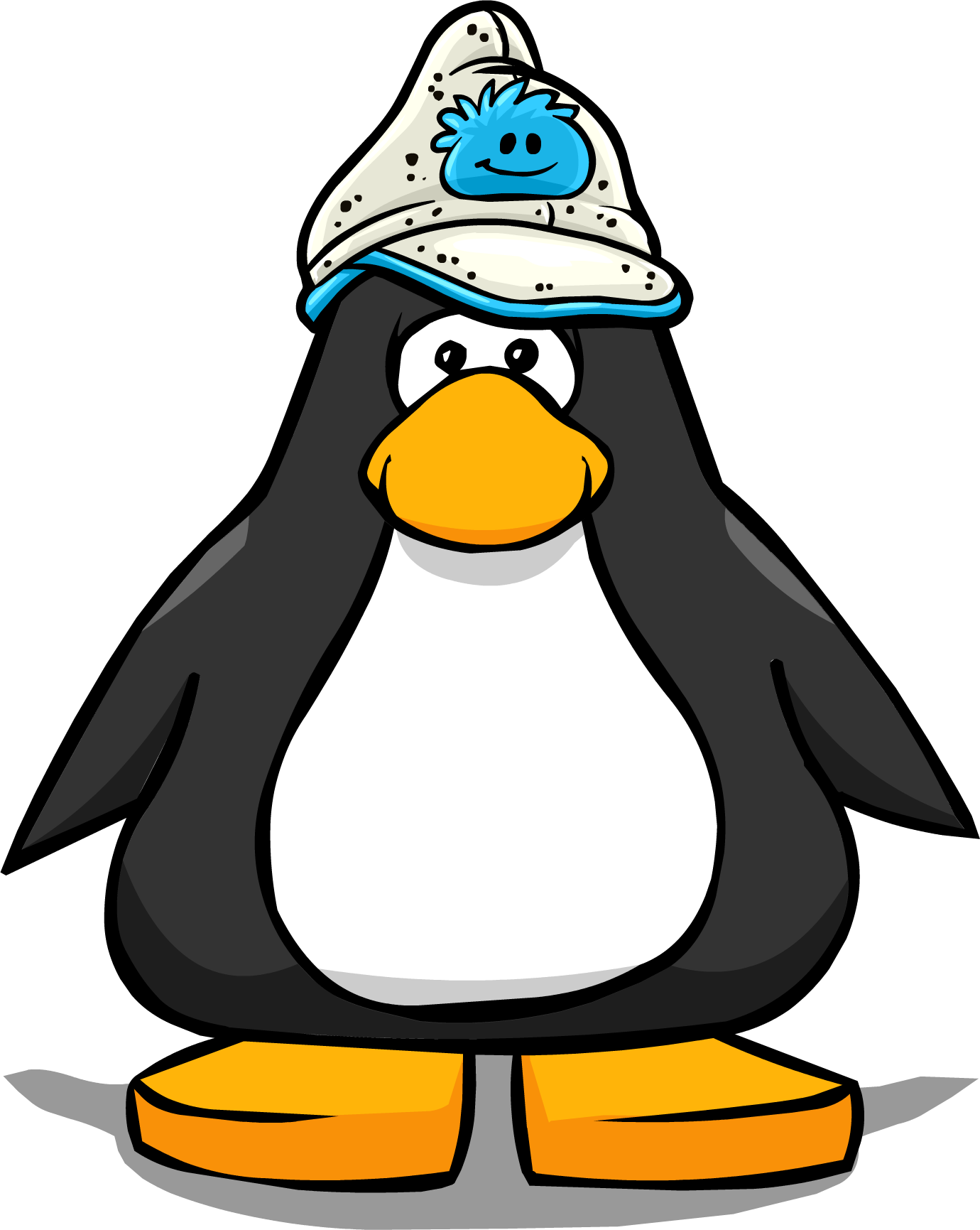 Blue Puffle Hat