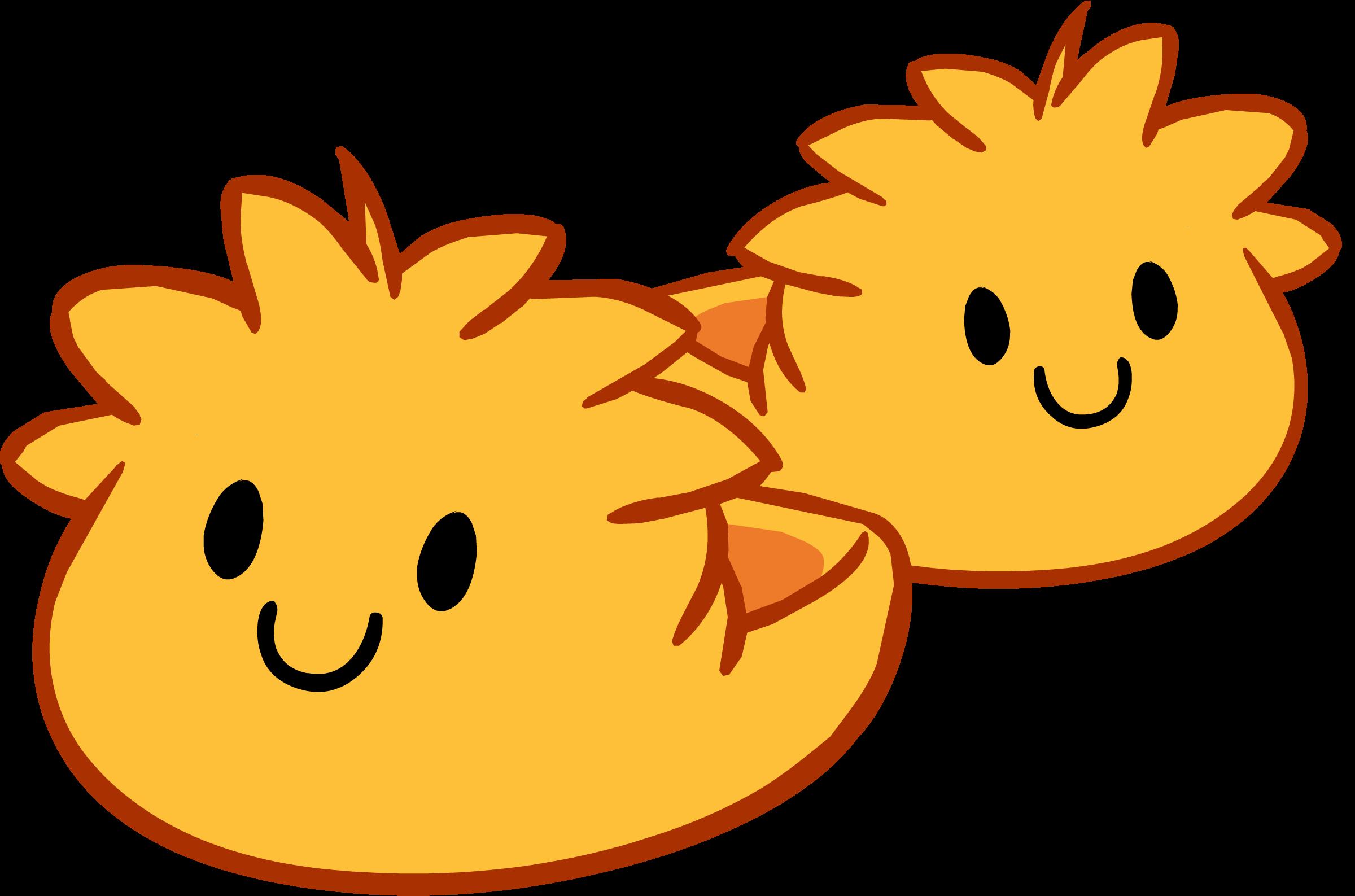 Pantuflas de Puffle Naranja