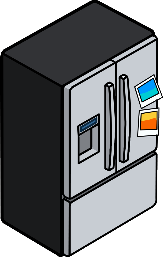 Refrigerador de Acero Pulido