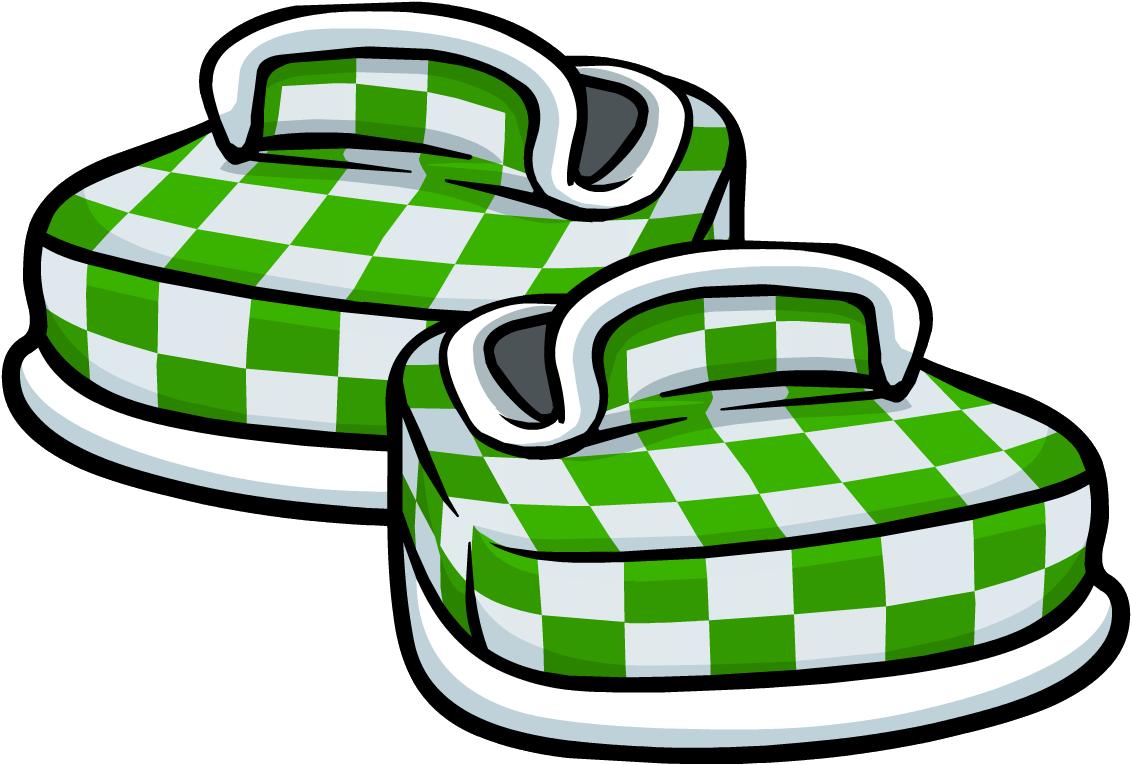 Zapatos a Cuadros Verdes