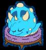 Blue Dino Puffle Sleeping