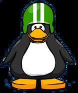 Green Football Helmet from a Player Card