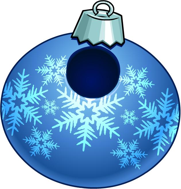 Bola Copo de Nieve Azul
