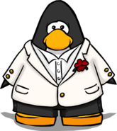 White Tuxedo on Player Card