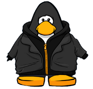 Black Zip Hoodie from a Player Card