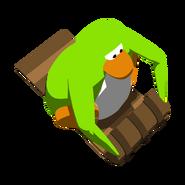 Lime Green Penguin Toboggan