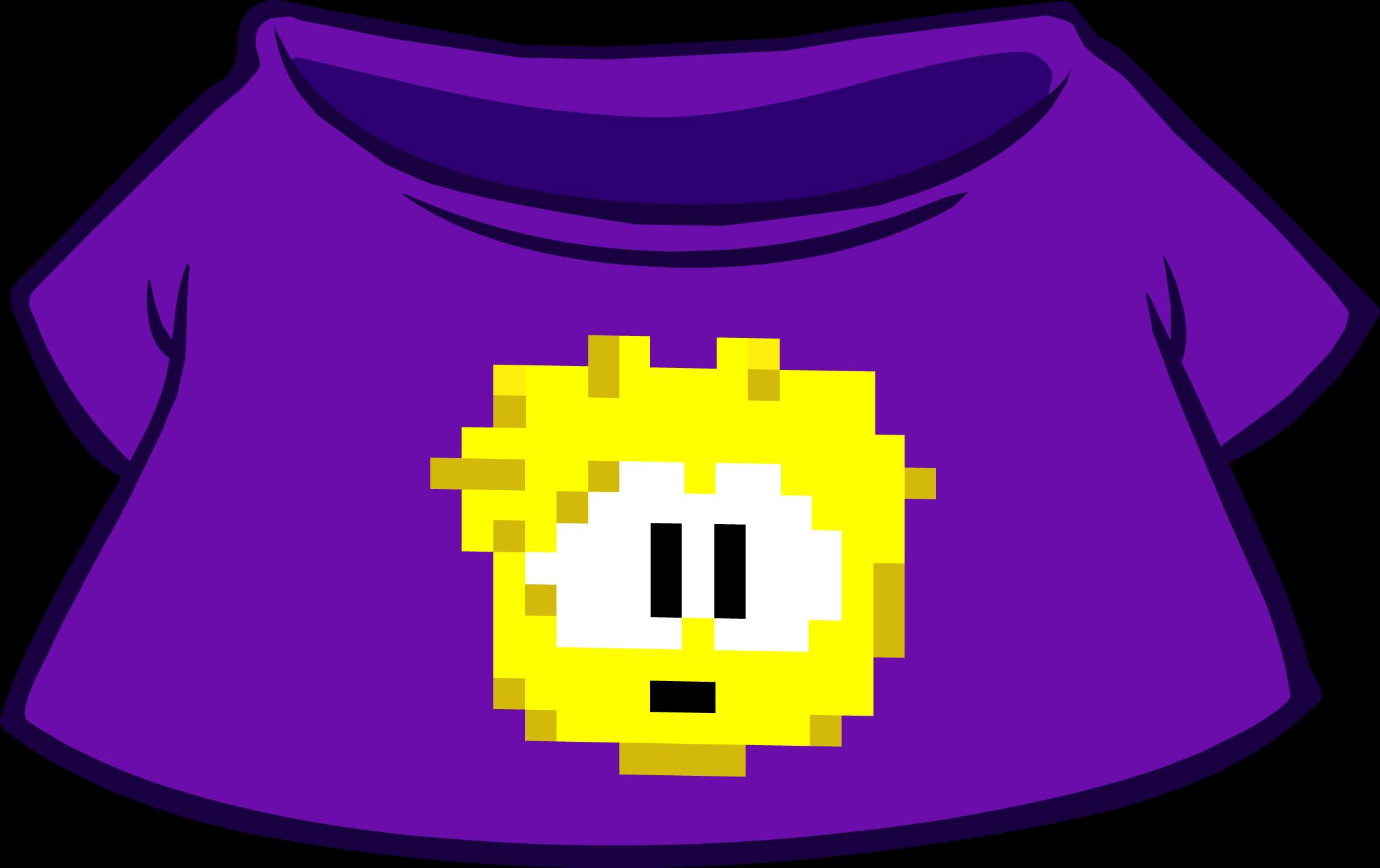 Camiseta de Puffle Pixelado Amarilla