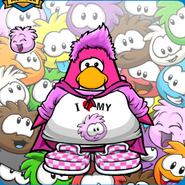 Pink Puffle Mariocart25