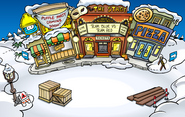 Puffle Party 2009 construction Plaza