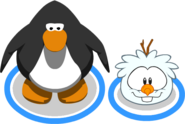 Snowman Puffle in-game