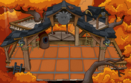 Black Puffle Tree House with flooring