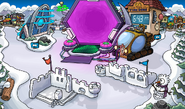 Fuerte nevado con portal swf