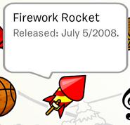 Firework Rocket Pin in Stampbook