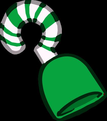 Garfio de Bastón de Caramelo Verde