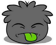 Black Puffle tongue