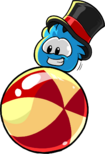 Blue Puffle With Hat