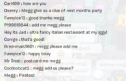 Megg confirming the pirate party 2014