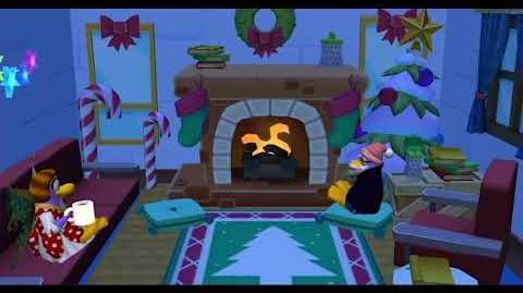 Relax by the Yule Log - Disney Club Penguin Island