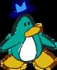 Doodle Dimension penguin Aqua hat