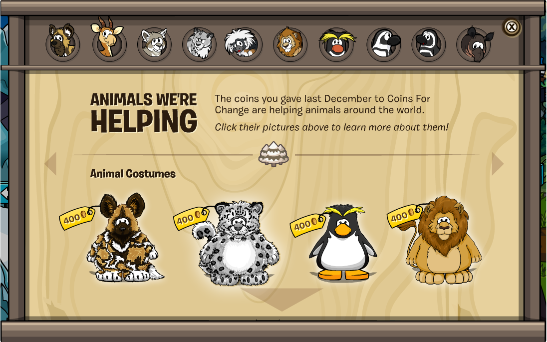 Animals We're Helping Catalog