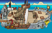 Rockhopper's Quest Migrator sailing to Beach