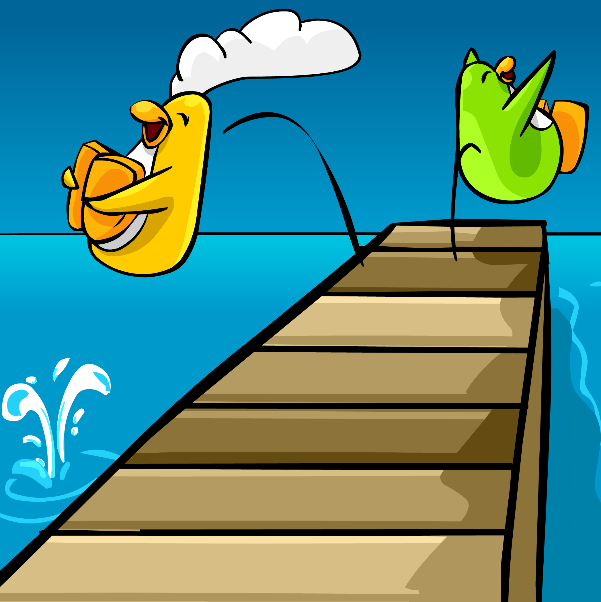 Dock Jumping Background