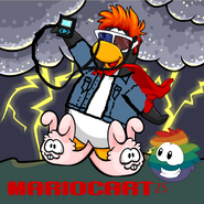 Mariocart25 Background with rainbow puffle