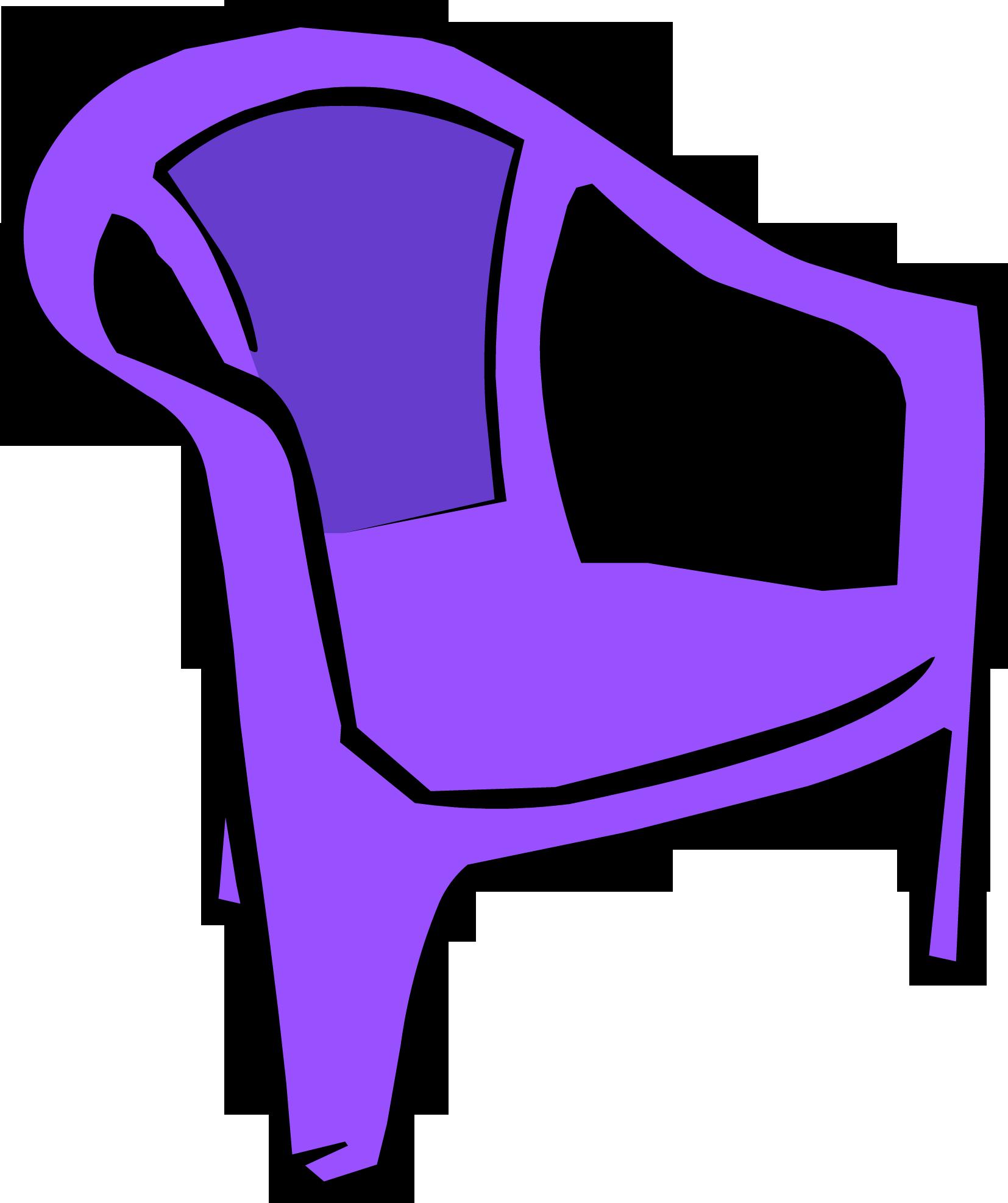 Purple Plastic Chair