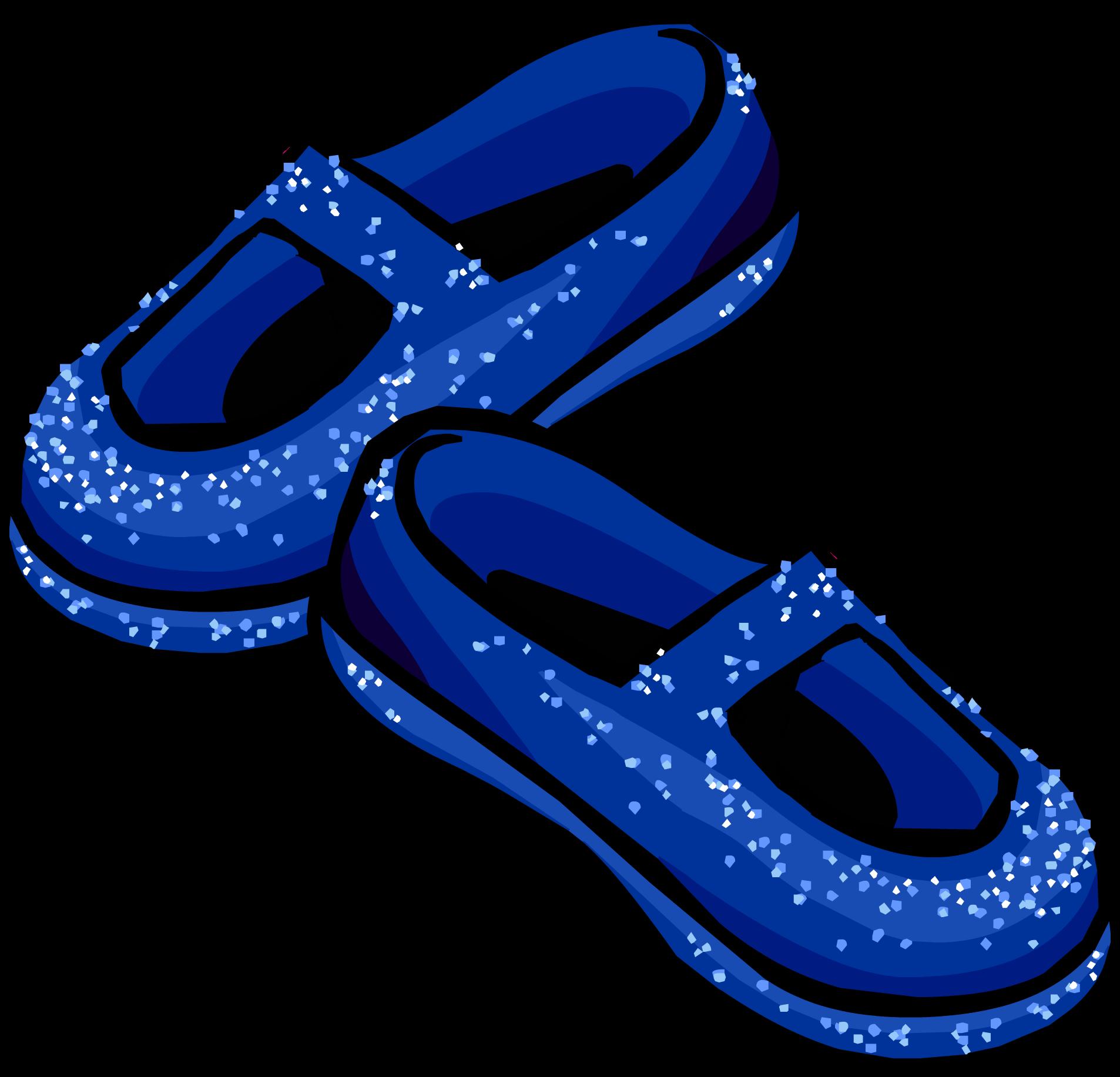 Blue Stardust Slippers