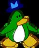 Doodle Dimension penguin Green hat