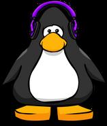 Auriculares violetas carta de jugador