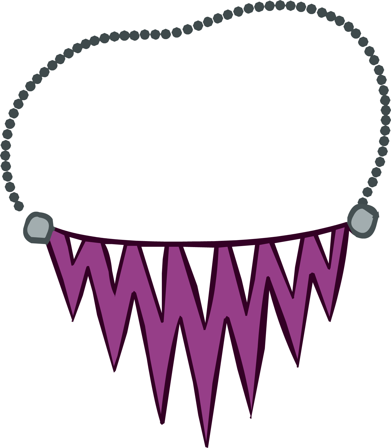 Jagged Purple Necklace