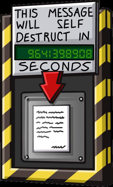 Self-Destructing Message