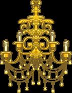 Gold Chandelier sprite 001