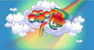 Club Penguin's Homepage background before the Puffle Party 2013