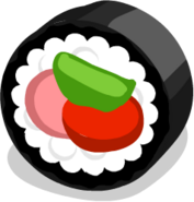 Big sushi piece