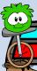 Green puffle playing again!